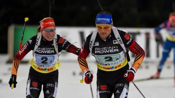 Ukrainer gewinnen Biathlon vor Lesser und Hildebrand