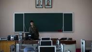 Kaderschmiede für Cyberkräfte: Aufnahme eines Klassenraums nahe Pjöngjang