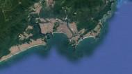 Blick auf die Bucht von Santos