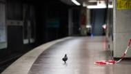 Warnstreik sorgt für leere Gleise