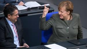 Merkel spielt standhaft
