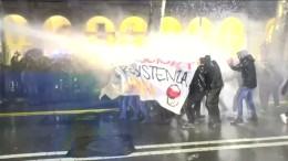 Zusammenstöße von Polizei und Demonstranten in Italien