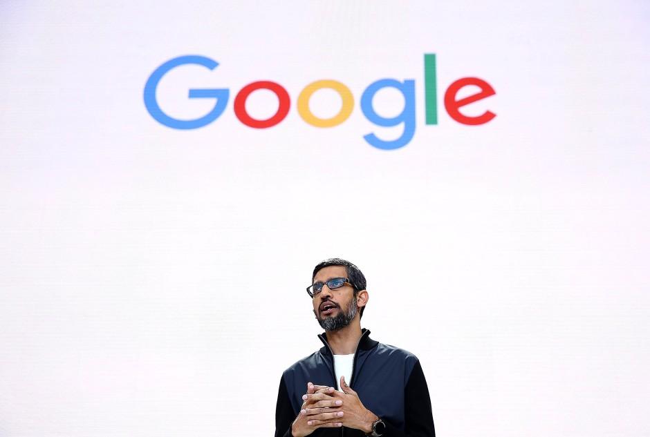 Googles CEO, Sundar Pichai, auf der Entwicklerkonferenz in New York