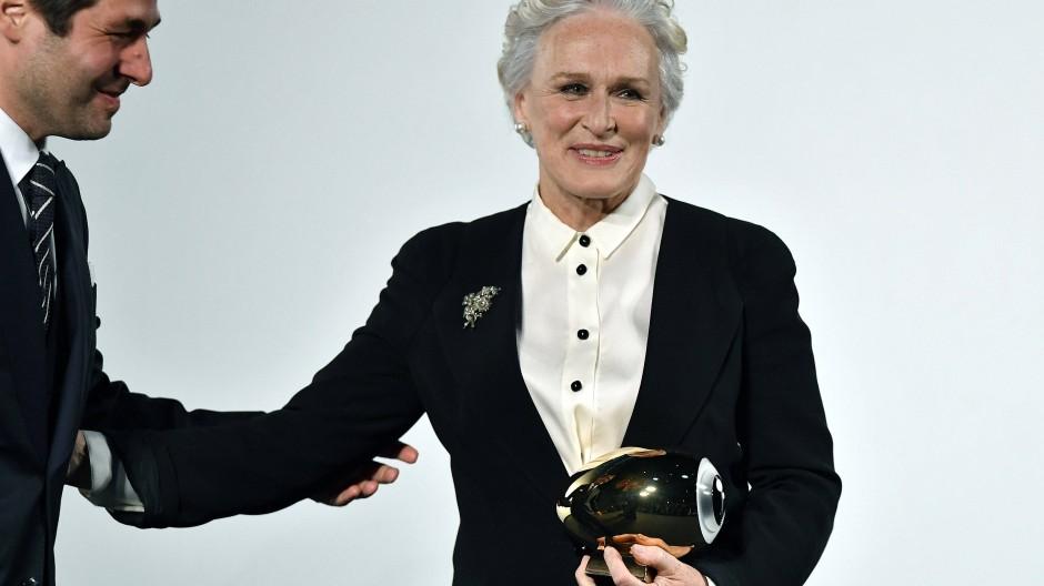 """Auf dem 13. """"Zürich Film Festival"""" ist Glenn Close Anfang Oktober mit dem """"Golden Eye Award"""" für ihr Lebenswerk ausgezeichnet worden."""