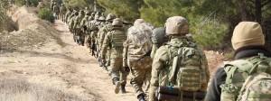 Türkische Soldaten im Norden der syrischen Stadt Azaz