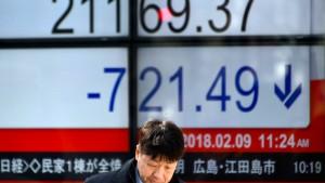 Märkte in Asien rutschen tief ins Minus