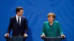 Pressekonferenz von Kurz und Merkel in Berlin
