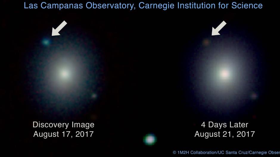 Eine neue Quelle in der Galaxie NGC 4993 - das Entdeckerbild des Swope Teleskops