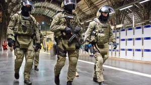 Terror-Übung  am Hauptbahnhof
