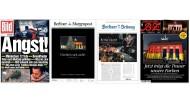 """Die Titelseiten der """"Bild"""", der """"Berliner Morgenpost"""", der """"Berliner Zeitung"""" und der """"BZ"""" vom 21. Dezember 2016 zum Anschlag auf den Berliner Weihnachtsmarkt"""