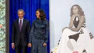 Weil zu viele Besucher das Porträt Michelle Obamas sehen wollen, erhält Michelle Obama in der National Portrait Gallery nun einen neuen Platz.