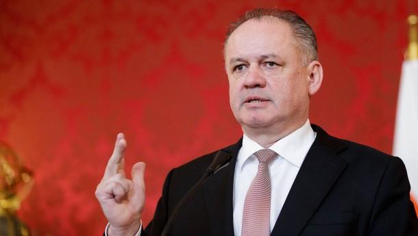 Slowakischer Präsident fordert Neuwahlen