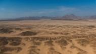 Hier, mitten in der Wüste, soll die Megastadt entstehen.