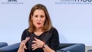 Die kanadische Außenministerin Chrystia Freeland spricht auf der Münchner Sicherheitskonferenz