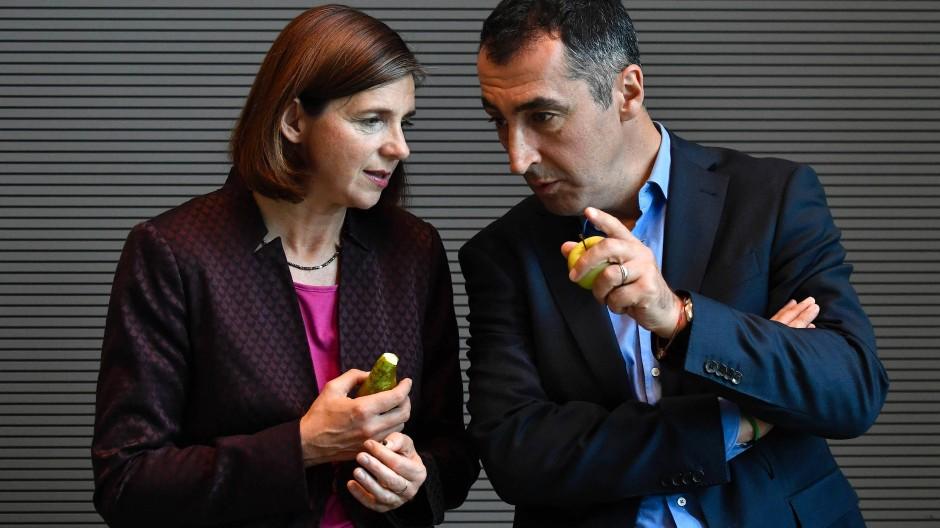 Ausgetüftelt: Katrin Göring-Eckardt und Cem Özdemir