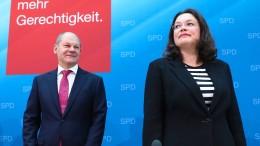 Olaf Scholz soll die SPD kommissarisch führen