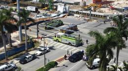 Neue Fußgängerbrücke in Miami eingestürzt