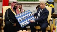 Waffen im Wert von 110 Milliarden Dollar verkaufen die Vereinigten Staaten in den nächsten Jahren an Saudi Arabien.