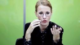 Kandidatin Sobtschak für Sanktionen gegen ihr Land