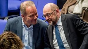 Der linke Flügel der SPD ist gespalten