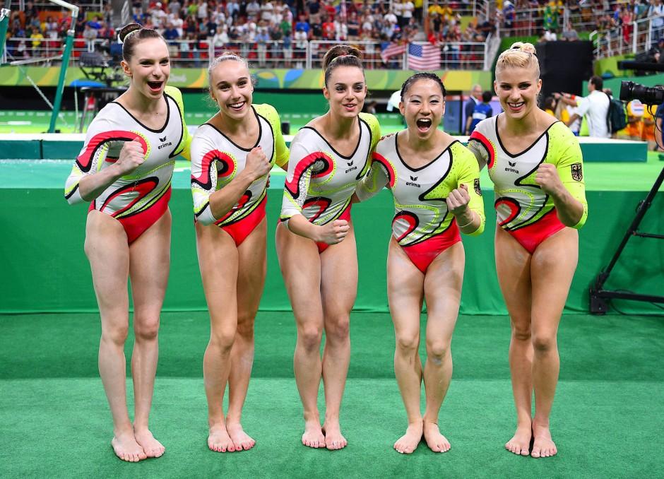 Tabea Alt (zweite v.l.) trug bei den Olympischen Spielen in Rio de Janeiro entscheidende Punkte zum hervorragenden sechsten Rang bei.