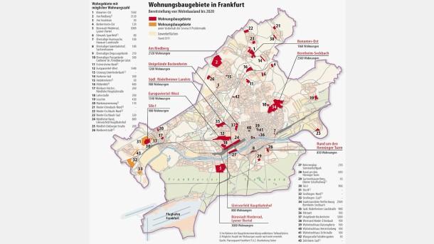 Frankfurt hat noch Platz für 25.000 Wohnungen