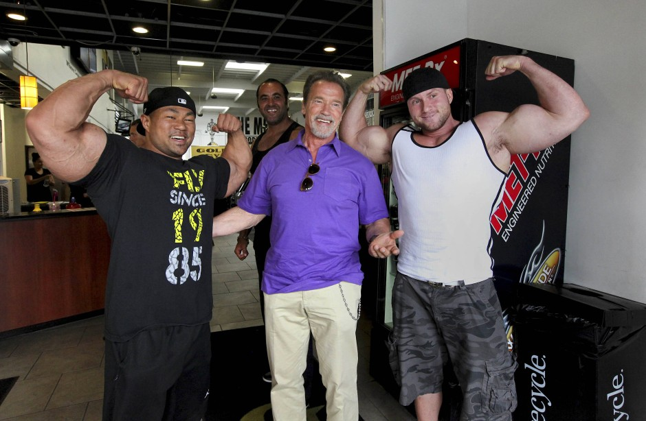 Arnold Schwarzenegger 2012 im Gold's Gym am Venice Beach.
