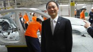 Li Shufu im ersten Volvo-Werk außerhalb Europas in Chengdu (Archivbild)