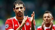 """""""Ist doch nur Blut"""": Javi Martinez gibt beim FC Bayern den Wellenbrecher vor der Abwehr."""