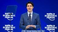 Der kanadische Premierminister Justin Trudeau beim Weltwirtschaftsforum in der Schweiz.