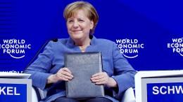 Was Merkel auf dem Weltwirtschaftsforum zu sagen hat
