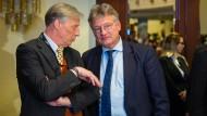 Nicht haltbarer Zustand: Der AfD-Parteivorsitzende Jörg Meuthen (rechts) will Armin-Paul Hampel den Vorsitz der Niedersachsen-AfD entziehen lassen.
