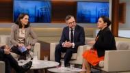 Anne Will diskutiert am 18. Februar 2018 mit Gästen in ihrer Sendung über Deniz Yücel und das deutsch-türkische Verhältnis.