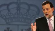 Hofft in der Krise auf die EZB: Mariano Rajoy