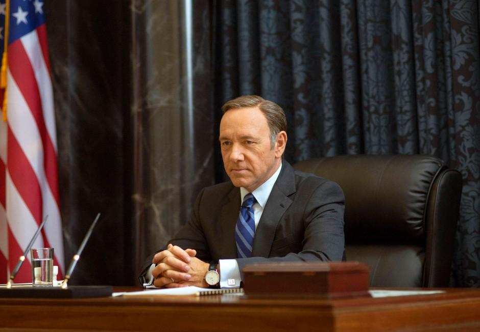 """Er verdankt seinen Job einem Algorithmus: Kevin Spacey als Francis Underwood in der Serie """"House of Cards"""""""