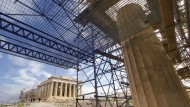 Work in Progress: The Restoration of the Parthenon temple on the Athenian Acropolis is supposed to be finished in several years.