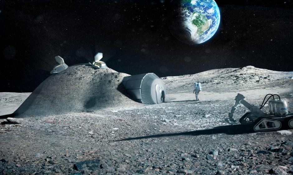 So könnten Fertighäuser für den Mond aussehen - die Einzelteile werden mit einem 3D-Drucker gefertigt, die Esa plant bereits.