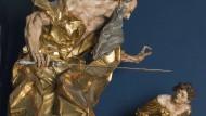 Der Stein- und Holzbildhauer Johann Georg Pinsel schuf 1758 diese Skulptur der Opferung Isaaks.