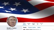 Nicht nur für Journalisten eine beliebte Informationsquelle: der Twitter-Account von Donald Trump