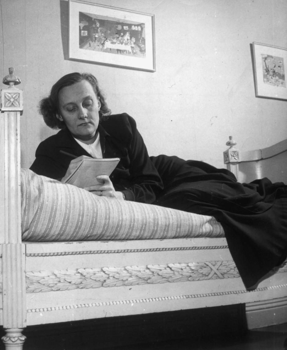 Astrid Lindgren in den vierziger Jahren.