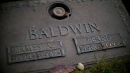 James Baldwins Grabstein am Friedhof Ferncliff in Hartsdale.