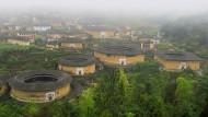 Auf der Liste der Unesco-Welterbestätten: Wehrhafte Rundhäuser der Hakka in der südchinesischen Provinz Fujian.