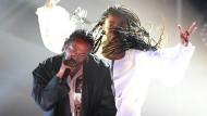 Beim Frankfurter Konzert waren keine Fotografen zugelassen – hier eröffnet Kendrick Lamar die Grammy-Verleihung 2017.