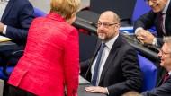Erfolgreiche Sondierungen für eine große Regierungskoalition in Deutschland lassen den Euro steigen.