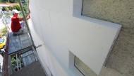 Gerüstet für die Zukunft: Wärmedämmung an einer Hausfassade.