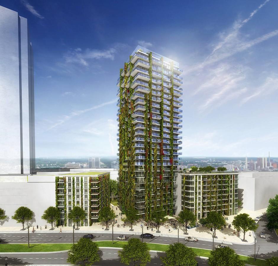 Der Wohnturm Tower 90 entsteht im Europaviertel.