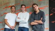 Die Gründer der privaten Hochschule Code University Manuel Dolderer, Thomas Bachem und Jonathan Rüth ( von links) wollen Studenten das Programmieren beibringen.