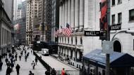 Blick auf die New Yorker Börse: Die amerikanischen Aktienindizes Dow Jones und S&P 500 haben die jüngsten Rückschläge gut verkraftet.