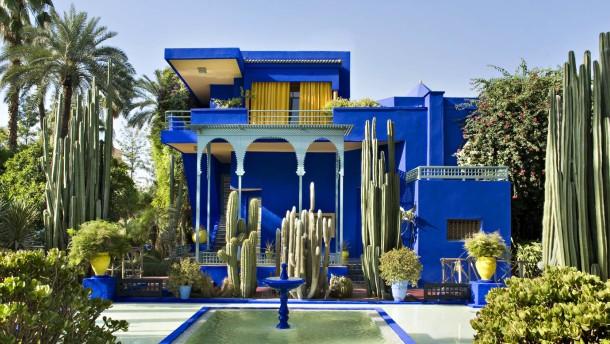 Das paradies liegt in marrakesch jardin majorelle for Jardin hispano mauresque