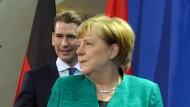 Alles unter Kontrolle? Kanzler Sebastian Kurz am Mittwoch in Berlin bei Kanzlerin Angela Merkel